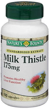 Nature's Bounty Milk Thistle 175 mg - 100 Capsules