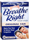 Breathe Right Nasal Strips Tan - Large 30 ct