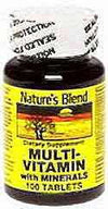 Nature's Blend Multi-Vitamin With Minerals Tablets 100ct