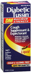Diabetic Tussin DM Max Strength Cough Suppressant /Expectorant - 4 oz
