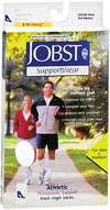 Jobst SupportWear Socks Athletic Knee High 8-15mmHg White Large 1 Pair
