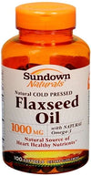 Sundown Flaxseed Oil 1000 mg Softgels 100ct