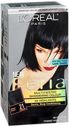 L'Oreal Feria Permnt Haircol Gel Starry Night/Bright Black/Cooler-1ea