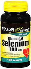 Mason Natural Selenium 100 mcg - 100 Tablets