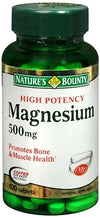 Nature's Bounty Magnesium 500 mg - 100 Tablets
