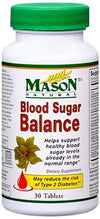 Mason Natural Blood Sugar Balance - 30 Tablets