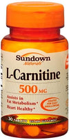 Sundown L-Carnitine 500 mg - 30 Tablets