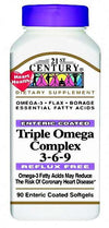 21st Century Trpl Omega Compx 3-6-9 with EPA and DHA-90 Entrc Ctd gels