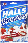 Halls Breezers Cool Creamy Strawberry - 25 ea