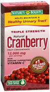 Nature's Bounty Cranbery Triple Strngth Natural Plus Vita.C-60Softgels