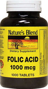 Nature's Blend Folic Acid 1000 Mcg Tablet 1000
