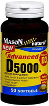 Mason Natural Advanced Vitamin D 5000 IU - 50 Softgels