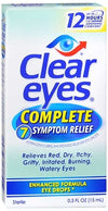 Clear Eyes Complete 7 Symptom Relief  Eye Drops - 0.5 oz