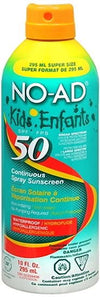 No-Ad Kids Sunblock Continuous Spray UVA/UVB SPF 50 - 10oz