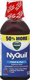 Vicks NyQuil Cold & Flu Liquid Cherry - 12.0 oz