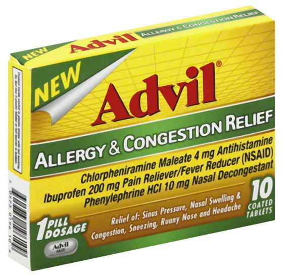 Advil Allergy & Congestion Relief Tablets 10 ea