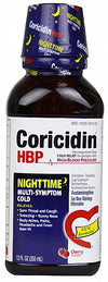 Coricidin HBP Nighttime Multi-Symptom Cold Cherry -- 12 oz