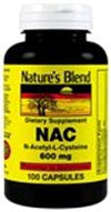 Nature's Blend NAC (N-Acetyl-L-Cysteine) 600 mg 100 caps