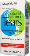 Major Natural Balance Tears Lubricant Sterile Eye Drop Solution-0.05oz