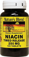 Nature's Blend Niacin Timed Release 250 mg Tablet 100