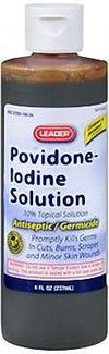 Leader Povidone-Iodine Solution 10% - 8oz
