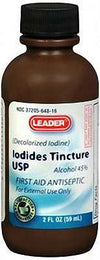 Leader Iodides Tincture 2% (Decolorized) - 2oz
