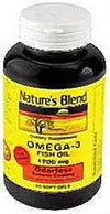 Nature's Blend Fish Oil 1200 mg Omega 3 Odorless - 60 Softgels