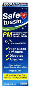Safetussin PM Night Time Cough Relief 4 oz