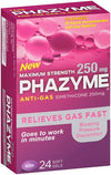 Phazyme Maximum Strength 250mg Anti Gas 24 Softgel