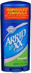 Arrid XX Solid Stick, Unscented - 2.7oz