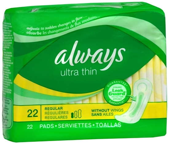 Always Ultra Thin Regular Pads without Wings Regular - 12x22 case