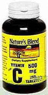 Nature's Blend Vitamin C 500 mg Tablets 250ct
