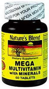 Nature's Blend Mega Multivitamin With Minerals Tablets - 60 ct