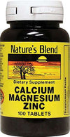 Nature's Blend Calcium Magnesium Zinc Tablet - 100 ct.