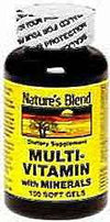 Nature's Blend Multi-Vitamin With Minerals Soft Gels 100ct