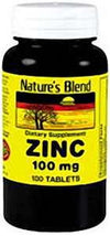 Nature's Blend Zinc Gluconate 100 mg - 100ct Tabs