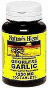 Nature's Blend Odorless Garlic Tablets 100ct