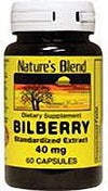Nature's Blend Bilberry 40 mg 60 Caps