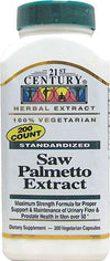 21st Century  Saw Palmetto Extract - 200 Vegetarian Capsules