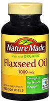 Nature Made Flaxseed Oil 1000 mg Omega 3 - 100 Softgels
