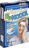 Be Koool Gel Sheets For Adults Migraine - 4 ea