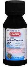 Leader Iodine Tincture 2% - 1oz
