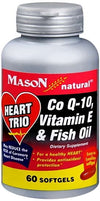 Mason Natural Heart Trio Co Q-10 Vitamin E & Fish Oil 60 Softgels