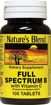 Nature's Blend Full Spectrum B Complex with Vitamin C Tablets 100