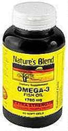 Nature's Blend Fish Oil 1760 mg Omega 3 Extra Strength - 30 Softgels
