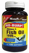 Mason Natural No Burp Omega-3 Fish Oil 1000 mg - 100 Softgels