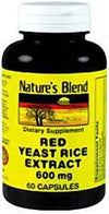 Nature's Blend Red Yeast Rice Extract 600 mg - 60 Capsule