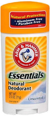 Arm & Hammer Essentials Natural Deodorant Unscented 2.50 oz