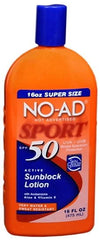 No-Ad Sunblock Lotion UVA/UVB SPF 50 - 16oz