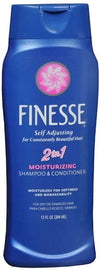 Finesse Self Adjusting Moisturizing 2-In-1 Shampoo & Conditioner- 13oz